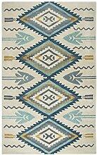 Rizzy Home Bereich Teppich, Wolle, Aqua, 3'x