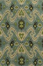 Rizzy Home Bereich Teppich, Wolle, blau, 2' x