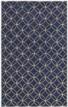 Rizzy Home Bereich Teppich, Wolle, Blue/Ivory,