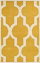 Rizzy Home Bereich Teppich, Wolle, Gold, 3' x