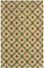 Rizzy Home Bereich Teppich, Wolle, grün, 2' x