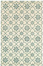 Rizzy Home Bereich Teppich, Wolle, weiß, 2' x