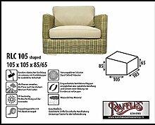 RLC105shaped Schutzhülle für Lounge Sessel, Lounge Chair order Lounge Stuhl, passt am besten am Stuhl von max. 100 x 100 cm.Schutzhülle für Lounge Sessel, Abdeckung für Lounge Stuhl