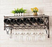 RLGHJJ HJHY® Weinregal Inverted Weinregal Haushalt Weinglas Rack Kreativität Flaschenregal Länge 62,5 x Breite 25,5 x Höhe 21,5 cm Geschäft/Zuhause/Bar