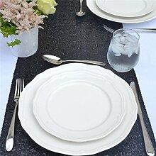 """rlyc 38,1x 335,3cm Rechteck Pailletten Tischläufer Großhandel von Pailletten Hochzeit Tischdekoration Farben sind erhältlich, Sonstige, schwarz, 15""""*132"""" sequin tablerunner"""