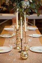 """rlyc 38,1x 335,3cm Rechteck Pailletten Tischläufer Großhandel von Pailletten Hochzeit Tischdekoration Farben sind erhältlich, Sonstige, Champagne, 15""""""""*132"""""""" sequin tablerunner"""