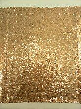 """rlyc 38,1x 335,3cm Rechteck Pailletten Tischläufer Großhandel von Pailletten Hochzeit Tischdekoration Farben sind erhältlich, Sonstige, gold, 15""""""""*132"""""""" sequin tablerunner"""