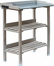RM Design Pflanztisch Holz Zinkplatte Gartentisch