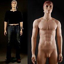 RMAN Neu Schaufensterpuppe Mannequin Männlich Mann Schaufensterfigur für Schaufenstern oder Kleidung Showcase 188CM