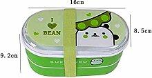RMLITE Bento Lunchboxen - Brotdose mit 2 Fächern