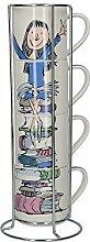 Roald Dahl stapelbare Tassen aus feinem Porzellan