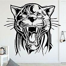 Roaring Tiger Wandkunst Aufkleber Wandaufkleber