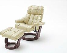 Robas Lund Sessel, Relaxsessel, Calgary XXL, Leder/Creme, 92 x 97 x 110 cm, 64038CK5