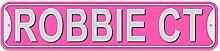 Robbie Schild–Kunststoff Wand Tür Street Road Stecker Name, plastik, rose, Cour