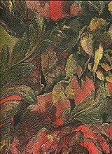 Roberto Cavalli RC14019-Beige Gold Glitzer Tapete, Blumenmuster, Ro