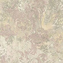 Roberto Cavalli RC14075-Beige modern Tapete, Textur, Glitzer, Pink