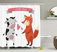 Robin Green Animals Decor Collection Duschvorhang,