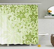 Robin grün Tropical Duschvorhang, Insel mit