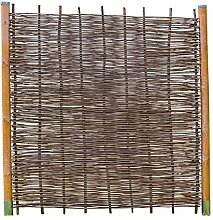 Robinienzaun BALDO Stabil - Sichtschutz Naturzaun aus Robiniengeflecht in 6 Größen (90 x 180 cm)