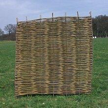 Robinienzaun, Flechtzaun Lumber 180x180cm