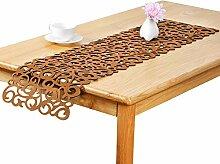 Robluee Tischset, rechteckig, Filz, Blumenmotiv,