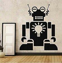Roboter kunstlampe beleuchtung wandaufkleber