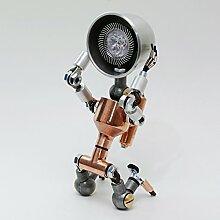 Roboter Lampen Wohnzimmer Schlafzimmer Deluxe Eisen Edelstahl Stahl Lampe Asien Handarbeit Wohnzimmer Design Tischlampe Schöne dekorative Lampe aus hergestellt in Korea Leuchte Dekoration Nachtischlampe