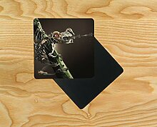 Robotic frog Wooden Table Drink Coaster 10cm x