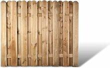 """Robuste Dichtzaun Zaunelemente in den Maßen 180 x 150 cm mit starken Lamellen aus Kiefer/Fichte Holz, druckimprägniert """"Frankfur"""