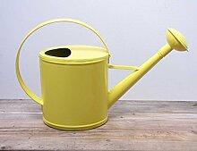 Robuste Gießkanne Metall gelb für 2 Liter Kanne Deko-Kanne Gartenkanne