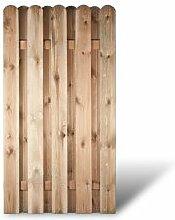 """Robuste Holz Sichtschutz Zaunelemente in den Maßen 100 x 180 cm mit starken Lamellen aus Kiefer/Fichte Holz, druckimprägniert """"Frankfur"""