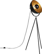 Robuste Stativ-Stehlampe schwarz - Magna