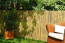 Robuster Sichtschutz Zaun Bambus CALAMA extra