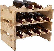 Robustes Weinregal aus Holz Stapelbares Regal für