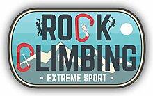 Rock Climbing Outdoor Adventure Emblem -