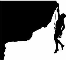 """Rock Kletterwand Aufkleber Aufkleber 20–Aufkleber Aufkleber und Wandbild für Kinder Jungen Mädchen- und Schlafzimmer. Klettern Climber Art Wand für Home Decor und Dekoration–Rock Climber Silhouette Wandbild, Vinyl, schwarz, 12 in. (12""""W x 10.9""""H)"""