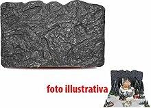 Rock Wanduhr 57x 36cm Zubehör für Krippe