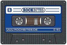 Rockbites Blechschild - Tape Blau