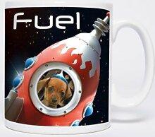 Rocket Fuel - Mugs - Becher - Chopes - Weltraumhund