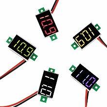 Rockyin 5pcs Mini LED digital Rohr Voltmeter DC