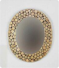 ROCOCO Dekorativer Wandspiegel oval Münzen aus