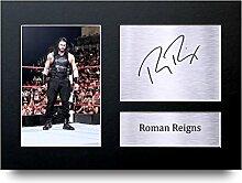 römischen herrscht unterzeichnet A4gedrucktem Autogramm WWE Wrestling Print Foto Bild Display–tolle Geschenkidee