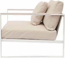 Röshults - Monaco Lounge Chair, weiß / Leder