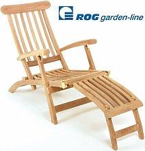 ROG garden-line TL8008: TEAK LIEGESTUHL DECKCHAIR