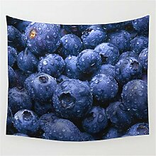 ROG000 Wandteppich Wandtuch Frucht Blaubeersommer