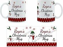 Roger'Weihnachten Becher, Tasse, Keramik,