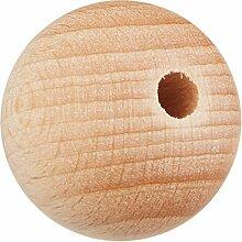 Rohholzkugel Holzkugel Kugel Holz Buche durchbohrt