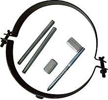 Rohrhalter verstellbar 120 mm Rohrbefestigung