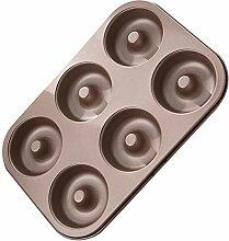 ROIY 6 Auch Donut Form Antihaft-Haushalt Kuchen
