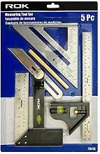 ROK 5-teiliges Messwerkzeug-Set für Tischler,